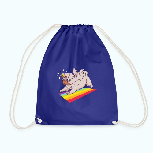 Unicorn Pug Limited Edition - Drawstring Bag