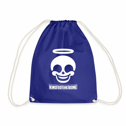 Kind To The Bone Cute Happy Skull With Angel Gift - Drawstring Bag