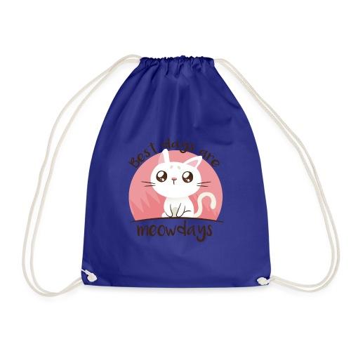Katze Cat Cats Kitten Meow days Miautage - Drawstring Bag