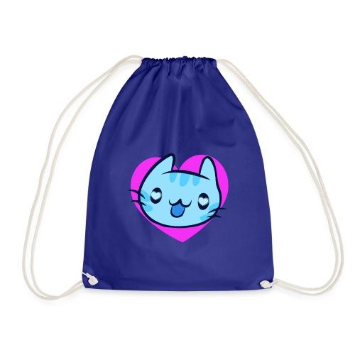 Cat Katze Face Gesicht Katzenaugen Liebe Herz - Drawstring Bag