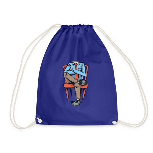 Caricatura Hombre sin Cabeza Sentado - Mochila saco