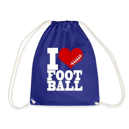 I LOVE FOOTBALL - Turnbeutel