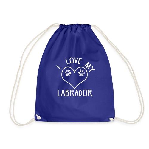 I love my labrador01 - Turnbeutel