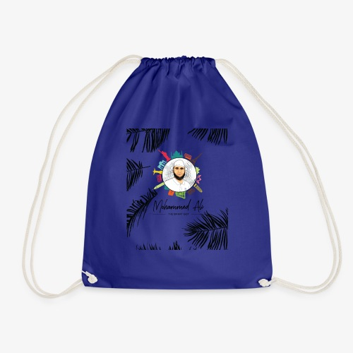 Mohammed Ali - Travel the world - Fan Article - Drawstring Bag