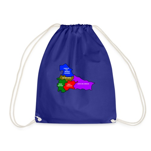 Teesside map - Drawstring Bag