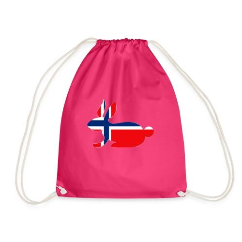 norwegian bunny - Drawstring Bag