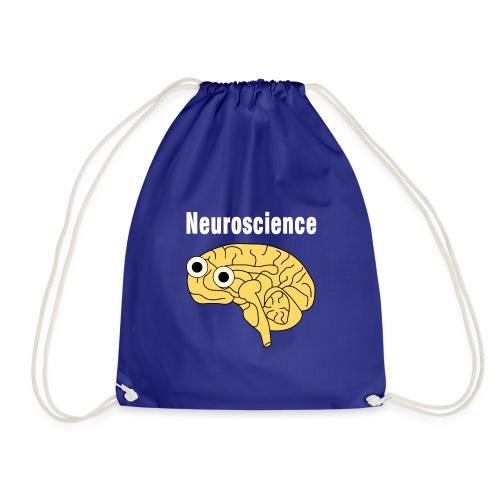 Neuroscience Brain White Text - Drawstring Bag