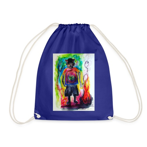 Fire Cat - Drawstring Bag