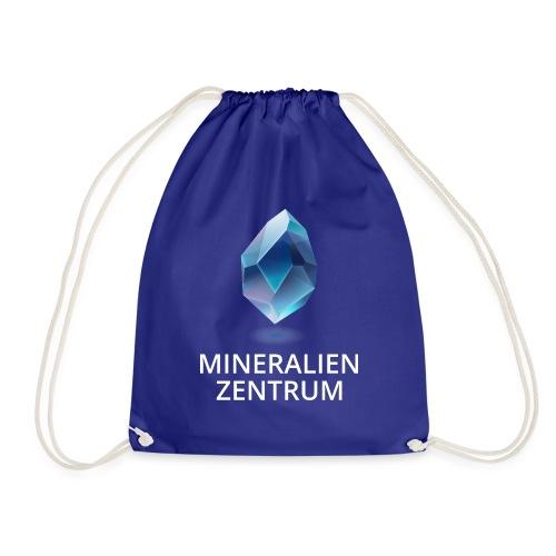 Mineralienzentrum Logo weiss - Turnbeutel