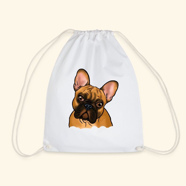 """Chien bouledogue """"Be my baby!"""" (texte blanc)"""
