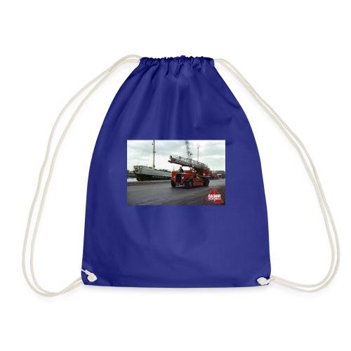 Fire Truck at Galway Docks 1970 - Drawstring Bag