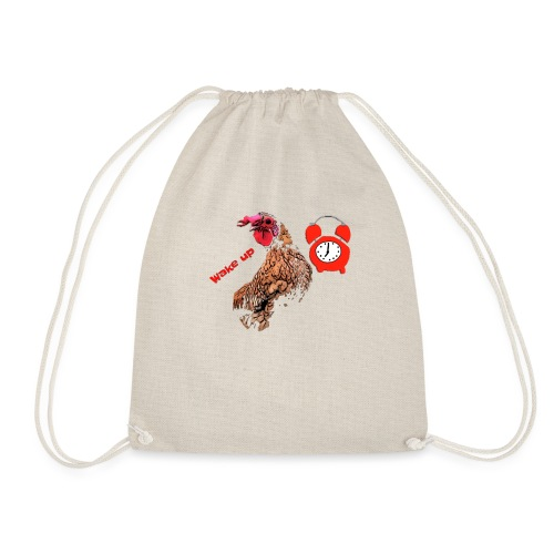 Wake up, the cock crows - Drawstring Bag