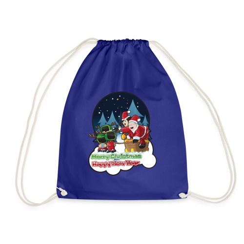 Merry Christmas And Happy New Year - Drawstring Bag