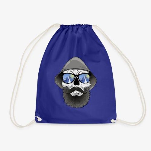 Totenkopf mit sonnenbrille und hut - Turnbeutel