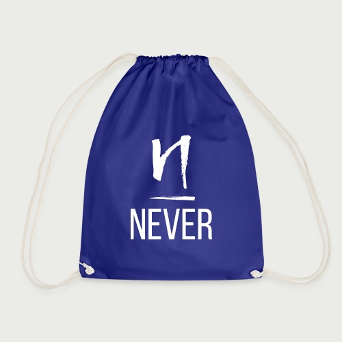 Never light - Drawstring Bag