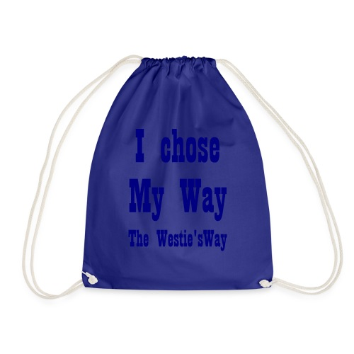 I chose My Way Navy - Drawstring Bag