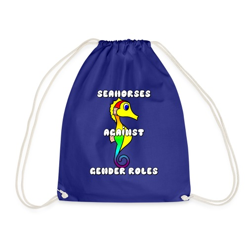 Seahorses against gender roles - Drawstring Bag