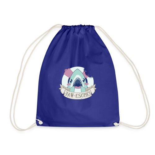 jawe some shark - Drawstring Bag