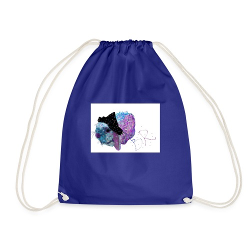 Polka Fizz Rabbit in Hat - Drawstring Bag