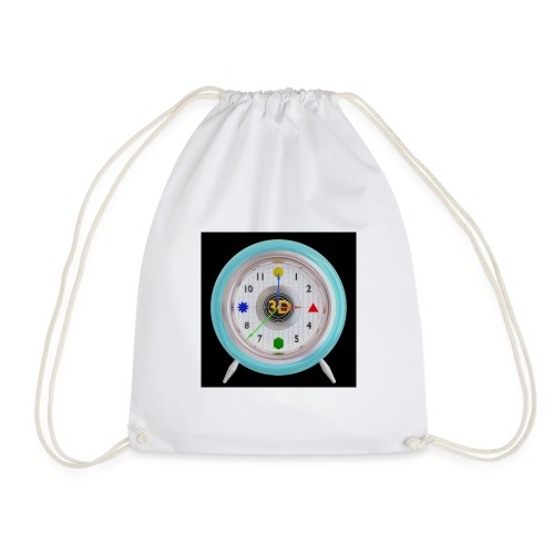 3D O' Clock with 3D engine and objects. - Drawstring Bag
