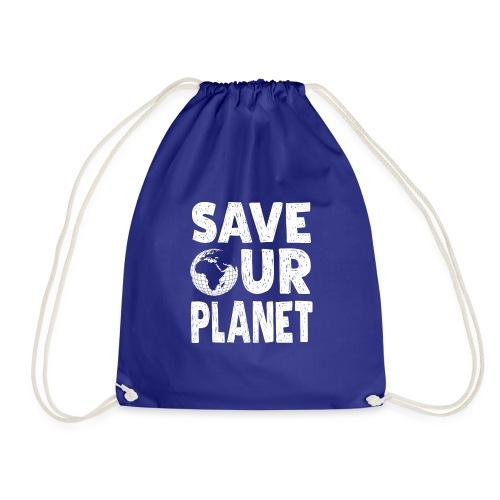 Klimaschutz Save our Planet - Naturschutz Umwelt - Turnbeutel