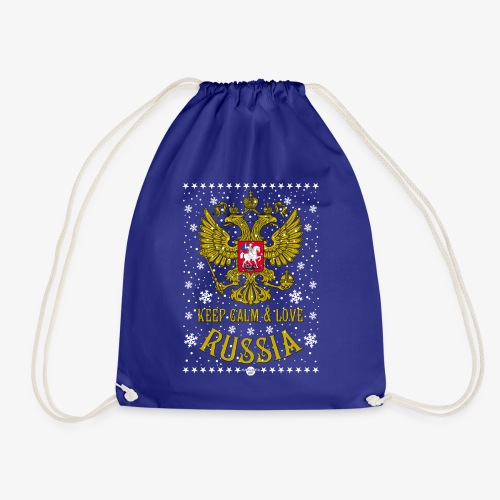 119 Keep Calm and love Russia Wappen Schnee - Turnbeutel