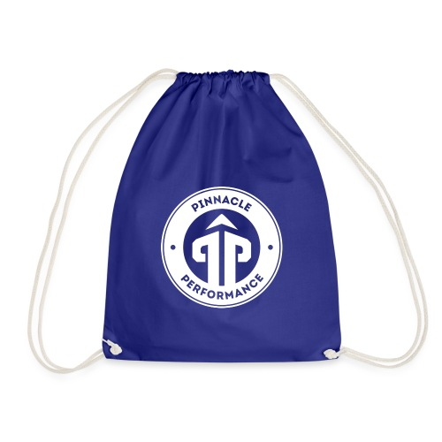 Pinnacle Performance Apparel (White Logo) - Drawstring Bag