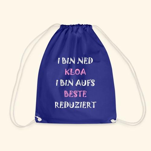 I BIN NED KLOA,.. - Turnbeutel
