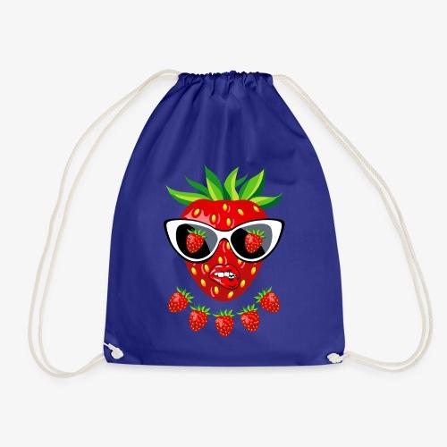 Süße Erdbeere Kussmund Sonnenbrille 23 - Turnbeutel