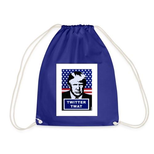 twitter twat - Drawstring Bag