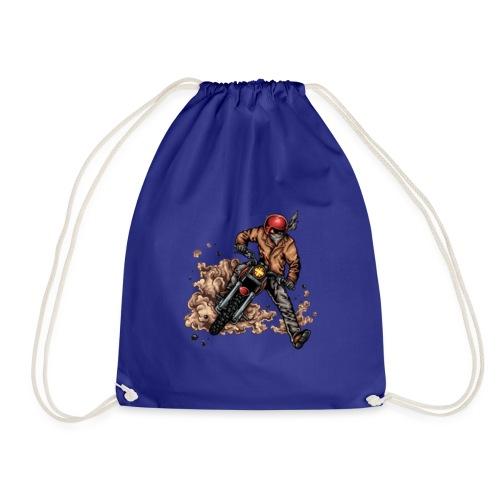 Motor bike racer - Drawstring Bag