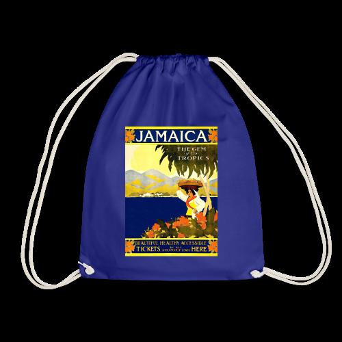 Jamaica Vintage Travel Poster - Drawstring Bag