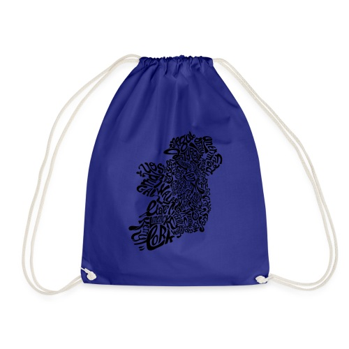 Ireland Typography - Drawstring Bag