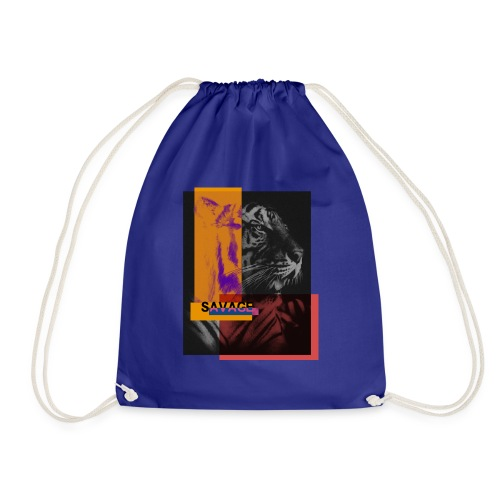 Tigre con deformación de colores - Mochila saco