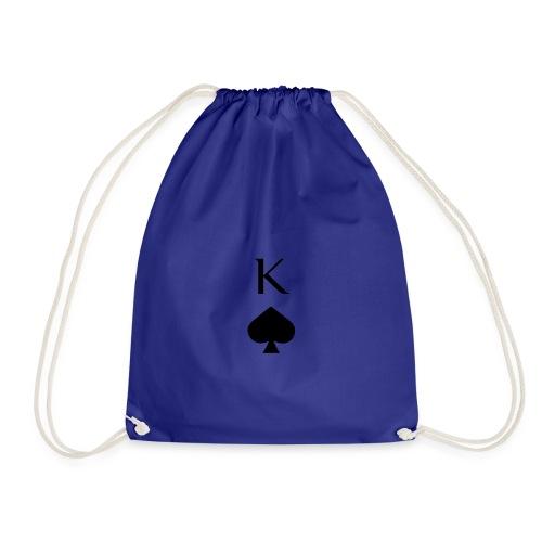 Sportlicher König Pik Poker Casino Print - Turnbeutel