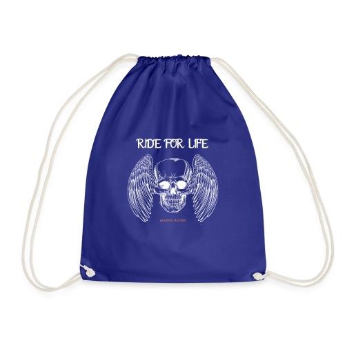 ride for life skull - Chopper - Bobber - Skull - Turnbeutel