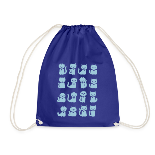 we want cats - Drawstring Bag