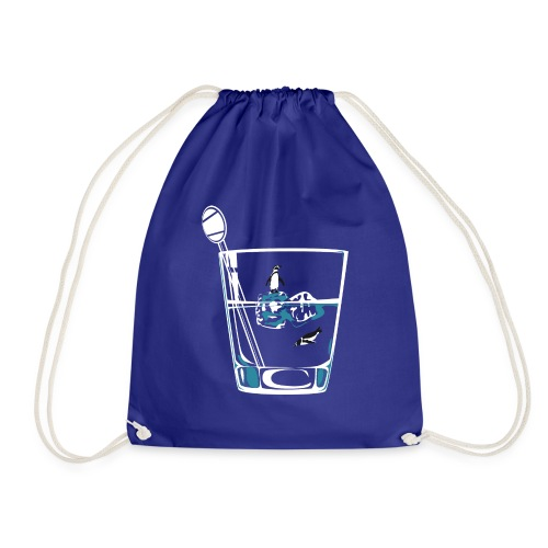 Penguins on the rocks - Drawstring Bag
