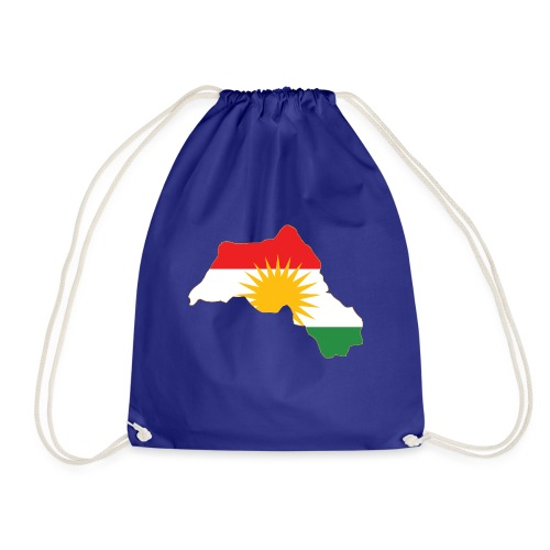 Kurdistan Flag Map - Turnbeutel