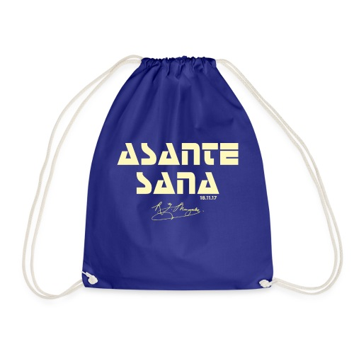 Asante sana pale gold - Drawstring Bag