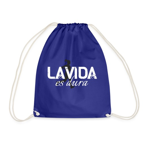 La Vida es Dura - Running Woman - Drawstring Bag