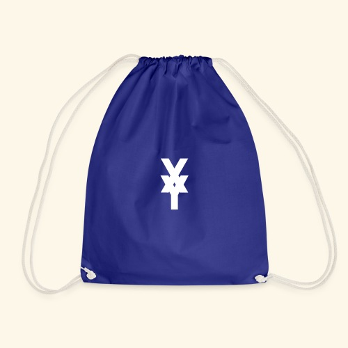 XY Logo White - Drawstring Bag