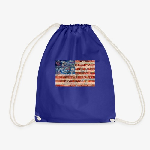 America flag - Drawstring Bag