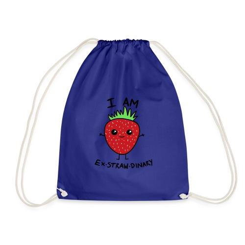 I Am Ex-straw-dinary - Drawstring Bag