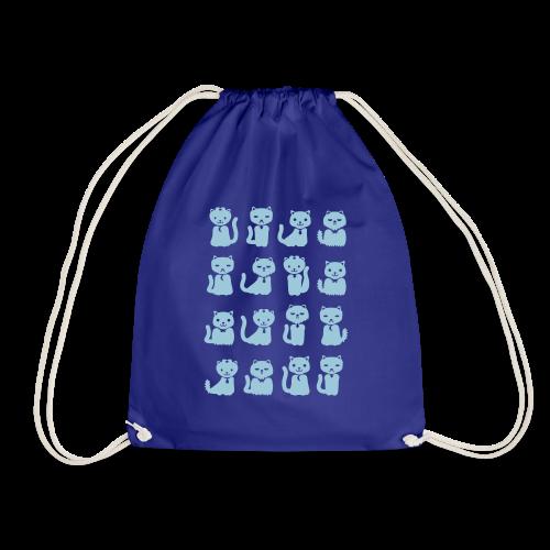 we want cats - Drawstring Bag