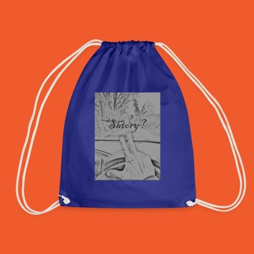 2 finger salute - Drawstring Bag