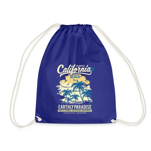 California Beach classic - Drawstring Bag