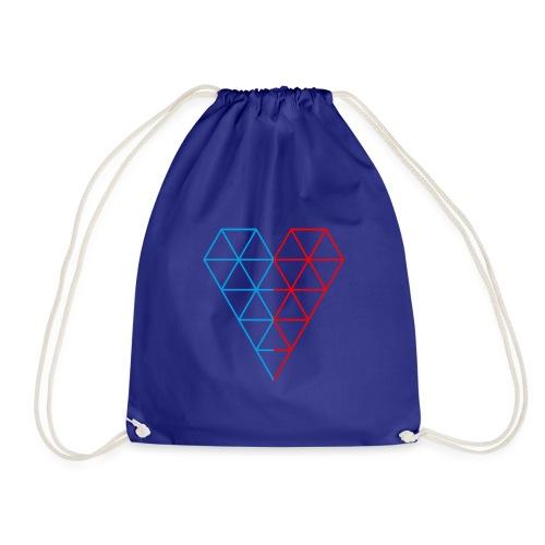 The Heart of Life x 1, Dual Polygon. - Drawstring Bag