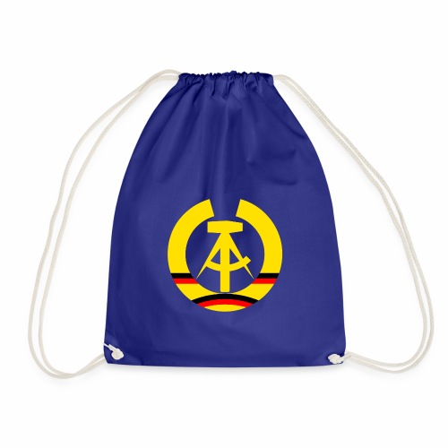 DDR coat of arms stylized (single) - Drawstring Bag