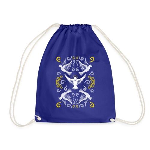 Doves Patterns - Drawstring Bag